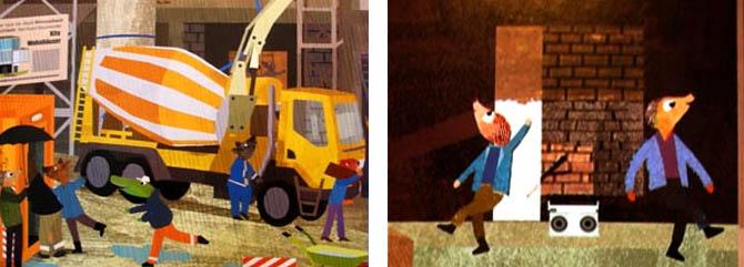 Pappbilderbuch: Auf der Baustelle ist was los
