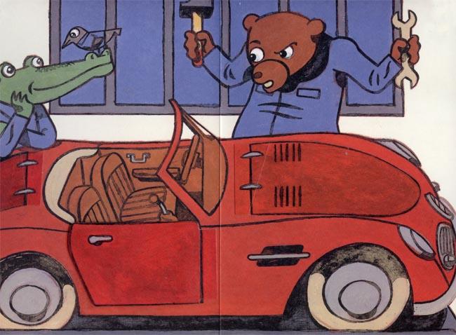 Die Autowerkstatt von Christophe Merlin - gute Kinderbücher ab 3 Jahren