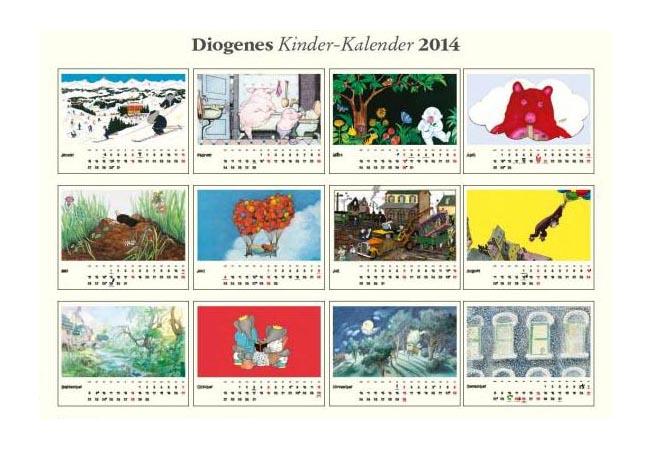 Kinderlieblinge 2014 - Kinderkalender von Diogenes