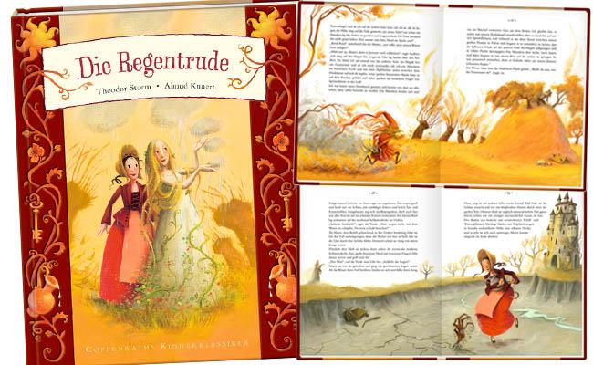 """Der Coppenrath hat Theodor Storms """"Regentrude"""" neu aufgelegt - das Märchen ist einem modernen Wortschatz sanft angepasst und wunderbar liebevoll illustriert (c)Kunert/Coppenrath"""
