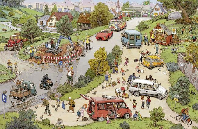 Der Ausflug - Kinderbuch - Wimmelbuch