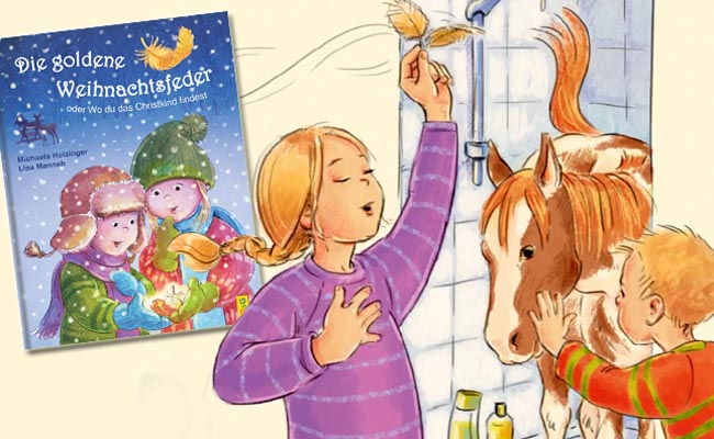 Die goldene Weihnachtsfeder - Kinderbuch ab 3 Jahren