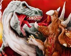 Kampf der Giganten: T-Rex gegen Triceratops