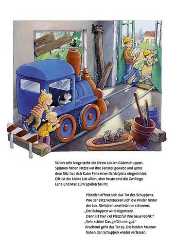 Kleine Lok, wo fährst du hin? Kinderbuch zum Spielen
