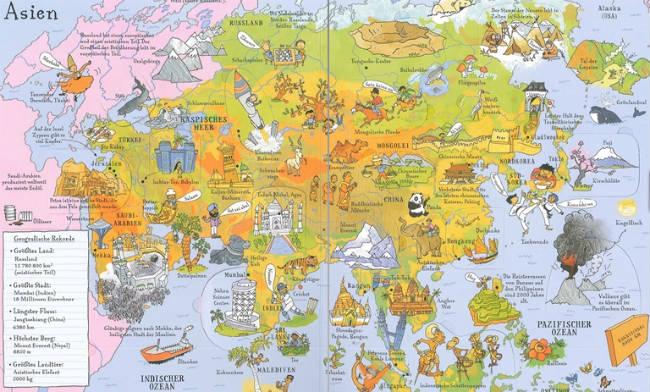 Kinderbücher: Mein bunter Weltatlas