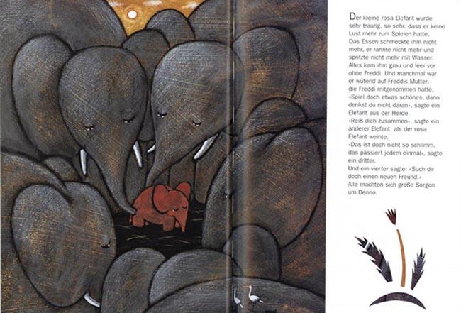 Wie der kleine rosa Elefant einmal sehr traurig war und wie es ihm wieder gut ging - Kinderbuch ab 4 Jahren
