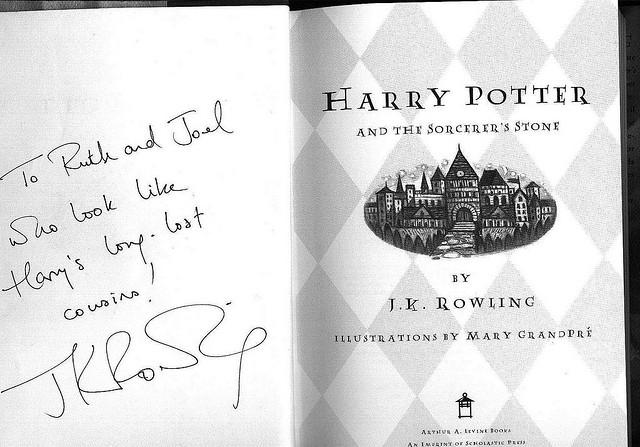 Rowling - Buch signiert