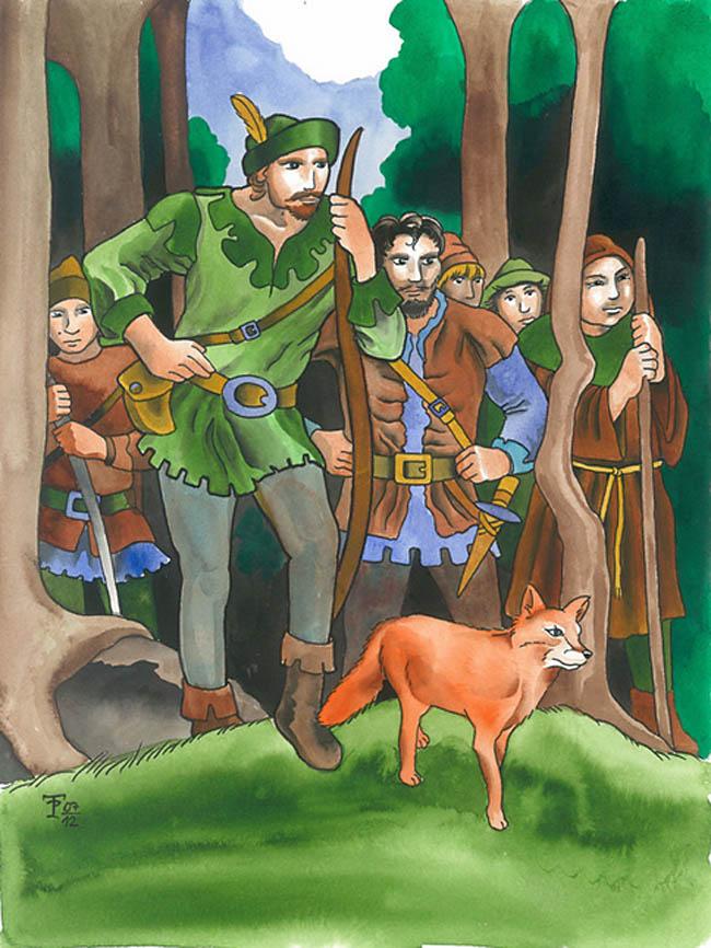 Kinderbücher: Die Abenteuer von Robin Hood und seinen Männern