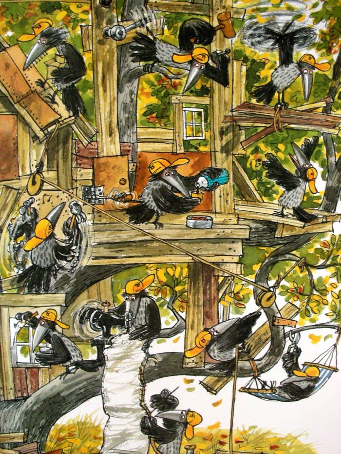 Kinderbücher: Mama Muh baut ein Baumhaus