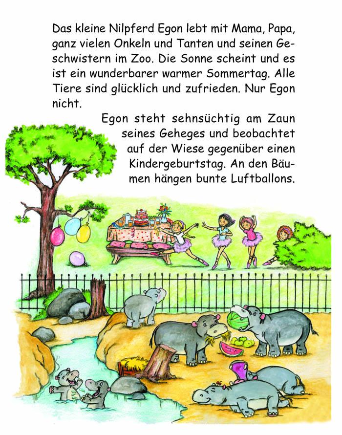 Kinderbücher: Lisa und Egon - Ein Nilpferd lernt tanzen