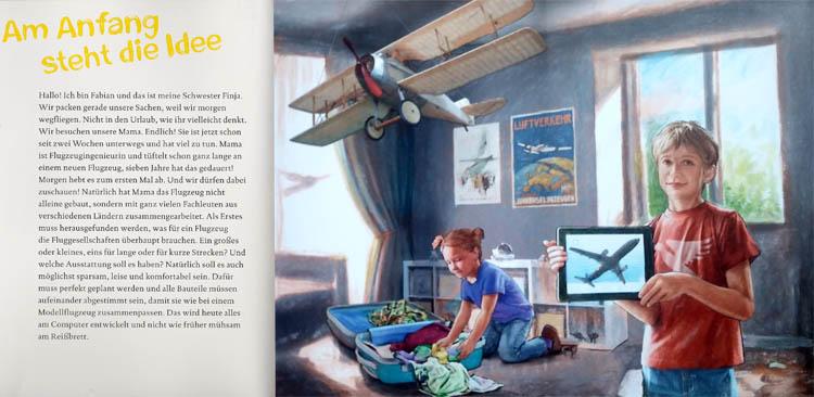 Kinderbücher: Start frei! Wie ein Flugzeug gebaut wird