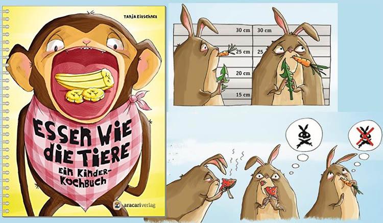 Kinderkochbuch: Essen wie die Tiere