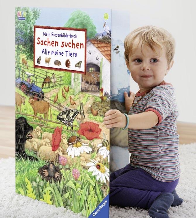 Riesenbilderbuch: Sachen suchen - Alle meine Tiere